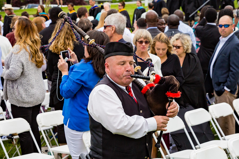 The faculty processional was led with bagpipes