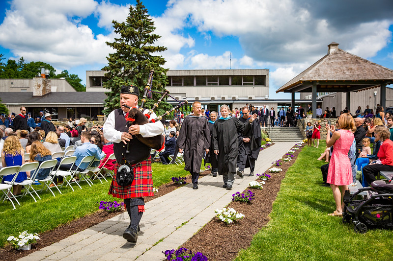 Bagpipes led the Recessional