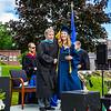 Headmaster Lamb poses with Catherine Pomeroy