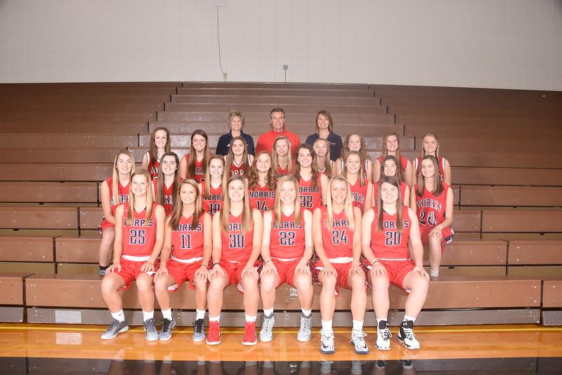 2016-2017 Girls Basketball Team