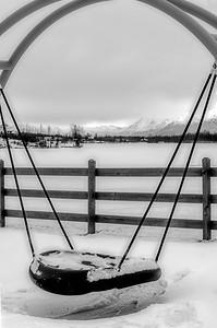 Wasilla Lake...dreamscape, B&W