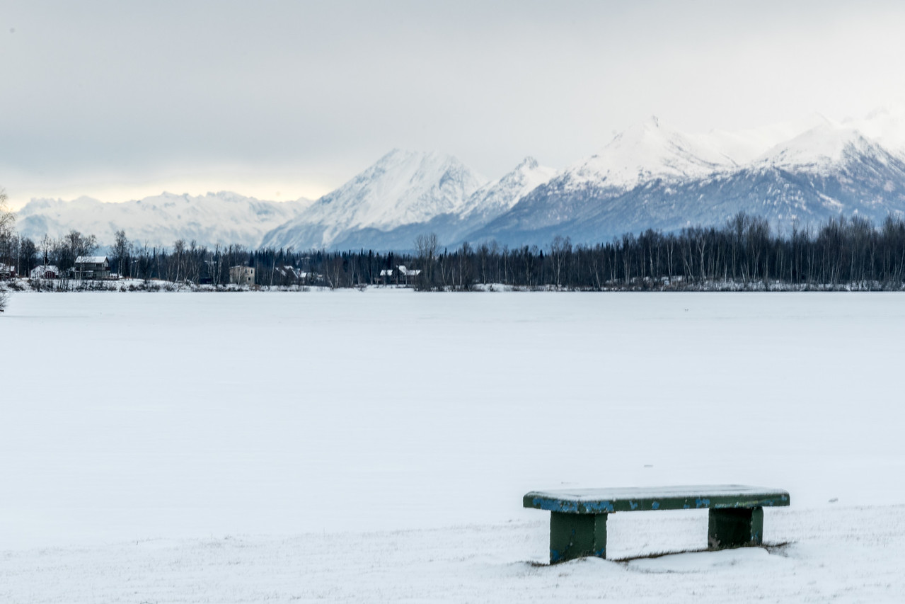 Wasilla Lake--might be almost too white.