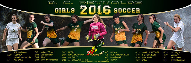 2016 A C Reynolds Girls Soccer Schedule