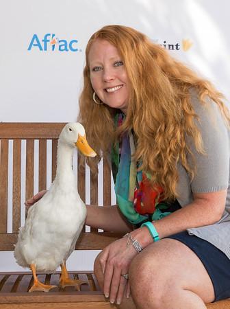 2016 Aflac Duck visit