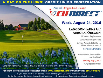 2016 Annual CU Direct Oregon Golf Classic