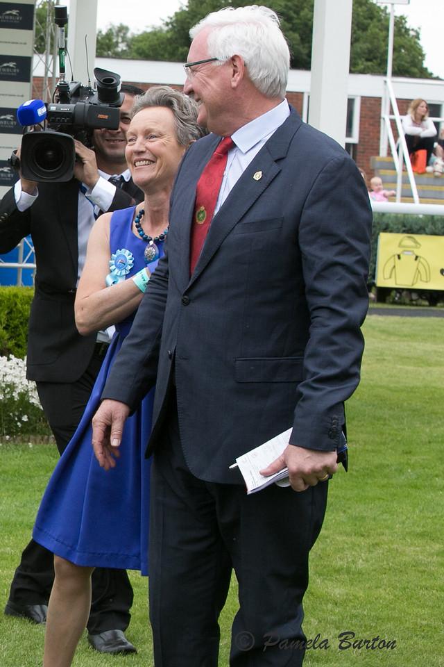 ecstatic Mme Bernard with JP Deroubaix