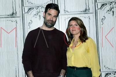 "New York, NY - April 06 2016:  Rob Delaney and Sharon Horgan at BUILD Series discussing ""Catastrophe"" Season 2 at BUILD Studio,."