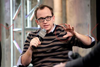 "New York, NY - April 15 2016:  Chris Gethard discussing ""The Chris Gerhard Show"" Season 2 at BUILD Studio."