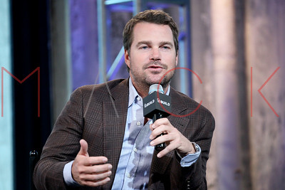 """New York, NY - April 11 2016:  Chris O'Donnell discussing """"NCIS:Los Angeles"""" at BUILD Studio."""