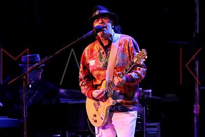 Poughkeepsie, NY - April 10 2016:  Carlos Santana, performs on stage at The Sunday, Apr 10, 2016 Evening with Carlos Santana at The 1869 Bardavon Opera House.