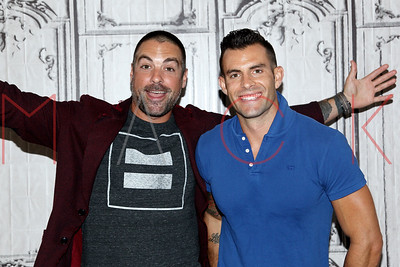 """NEW YORK, NY - JULY 13:  Anthony Carrino and John Colaneri visit AOL Build to discuss the HGTV show """"Cousins"""" at AOL HQ on July 13, 2016 in New York City."""