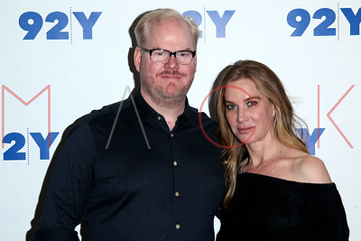 NEW YORK, NY - JUNE 26:  Jim and Jeannie Gaffigan in Conversation with Nathan Lane at 92nd Street Y on June 26, 2016 in New York City.