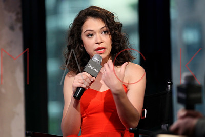 "NEW YORK, NY - JUNE 06:  Actress Tatiana Maslany attends AOL Build to discuss the Canadian science fiction thriller television series ""Orphan Black""  at AOL Studios In New York on June 6, 2016 in New York City."