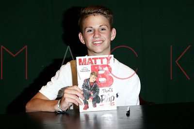 "NEW YORK, NY - JUNE 07:  MattyB Signs Copies Of ""That's A Rap"" at Barnes & Noble Tribeca on June 7, 2016 in New York City."