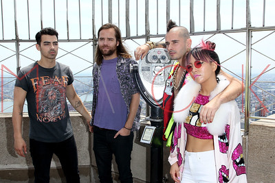 NEW YORK, NY - JUNE 01:  Joe Jonas of  DNCE Visits The Empire State Building on June 1, 2016 in New York City.