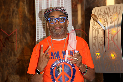 NEW YORK, NY - JUNE 01:  Motion Picture Director Spike Lee Lights The Empire State Building In Recognition Of National Gun Violence Awareness Month at The Empire State Building on June 1, 2016 in New York City.
