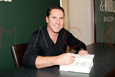 "NEW YORK, NY - OCTOBER 04:  Nicholas Sparks Signs Copies Of His New Book ""Two by Two"" at Barnes & Noble Union Square on October 4, 2016 in New York City."