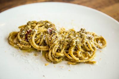 Broccoli pasta dish at Hawks Public House
