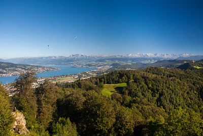 Majestic views of Zurich from Uetliberg