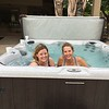 Julie and Barbara in the hot tub