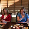 Barbara and Julie playing 7 Wonders