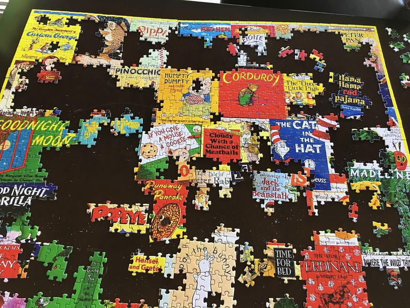 Partially completed puzzle