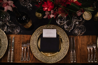 The place setting at Alejandro Bulgheroni Estate.   Photo by Bob McClenahan for the Napa Valley Vintners