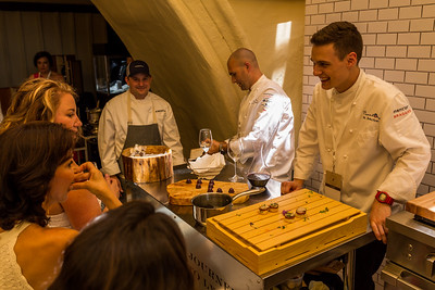 Preparing some delicious treats with a smile.  Photo by Jon McPherson for Napa Valley Vintners