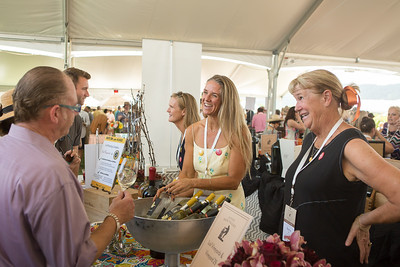 Generations of Lail Ladies pouring at the Napa Valley Barrel Auction Briana Marie Photography for Napa Valley Vintners