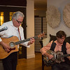 Jeff Gargiulo and his band entertain guests during vintner hosted dinner at Gargiulo Vineyards. <br /> <br /> Briana Marie Photography for Napa Valley Vintners