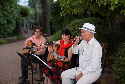 Music was the center of the evening at Gargiulo Vineyards .  Briana Marie Photography for Napa Valley Vintners