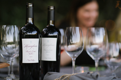 Hourglass wines were in abundance during their Auction Napa Valley dinner.   Photo by Bob McClenahan for the Napa Valley Vintners