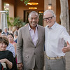 Huneeus warmly greets his guests at the top bidder party. <br /> <br /> Briana Marie Photography for Napa Valley Vintners