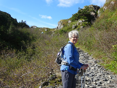 Norma Ray had hiked the trail before and led the way.