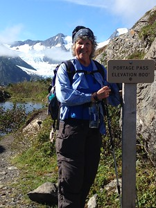 Kari, so glad to have been able to do it with a group of ladies willing to hike at her speed.