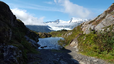 It was definitely worth it.  Here is the pass with Portage Glacier in the distance.
