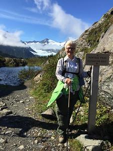 Paula is always happy to be hiking.