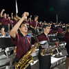 Dripping Springs High School Tiger Band, 2016 Game 1 away at Bastrop Memorial Stadium on Friday 8/26/13. Photo by David Douglas.