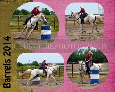 barrel races collages