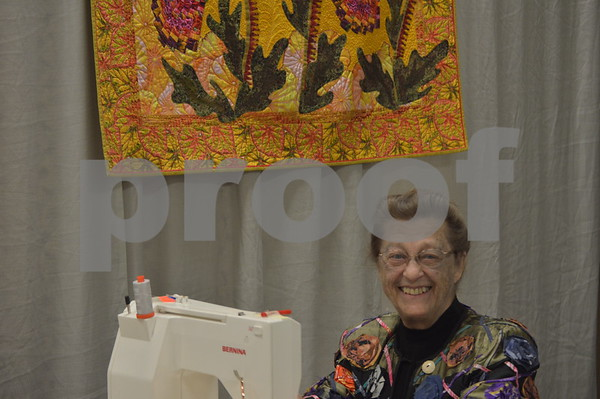 Joann Belling gave demonstrations on sewing throughout the day.