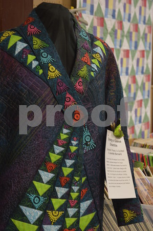 Pictured is an exquisitely made quilt jacket by Jennifer Bernand.