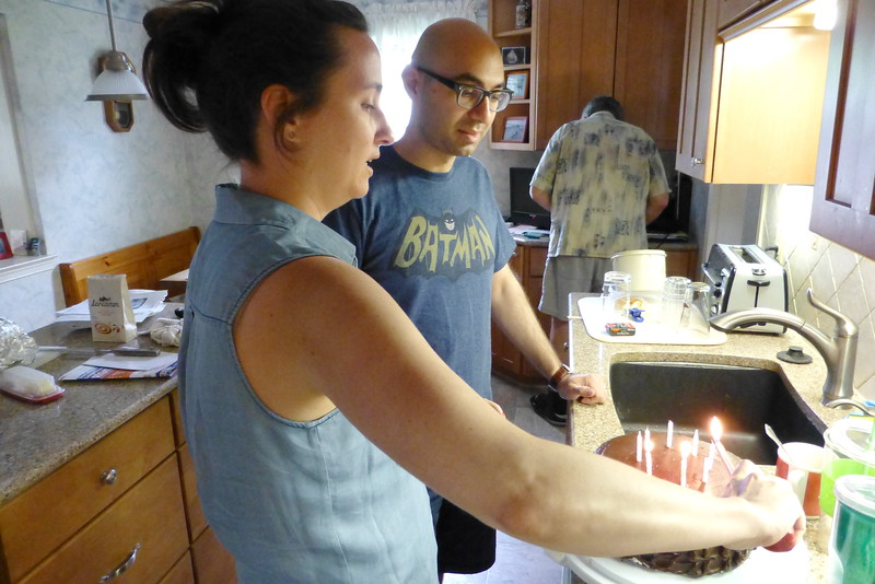 The Lighting of thee multi birthday Birthday Cake