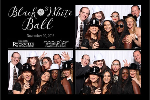 Rockville Chamber Of Commerce Black & White Ball Photo Booth
