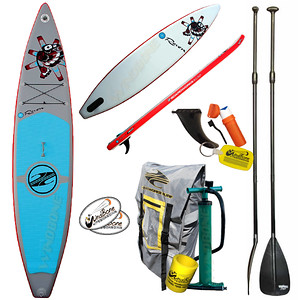2016 Boardworks SHUBU Raven 12-6 Inflatable Racing SUP Stand Up Paddle Board