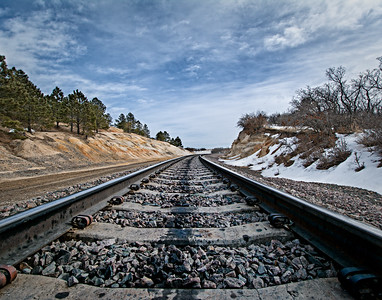 02-15 Train Tracks in Monument, CO