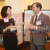 Eileen Little and Sean Bird of Deloitte enjoy conversation at the CBJ Book of Lists Gala held at the Foundation For The Carolinas on Jan. 28.