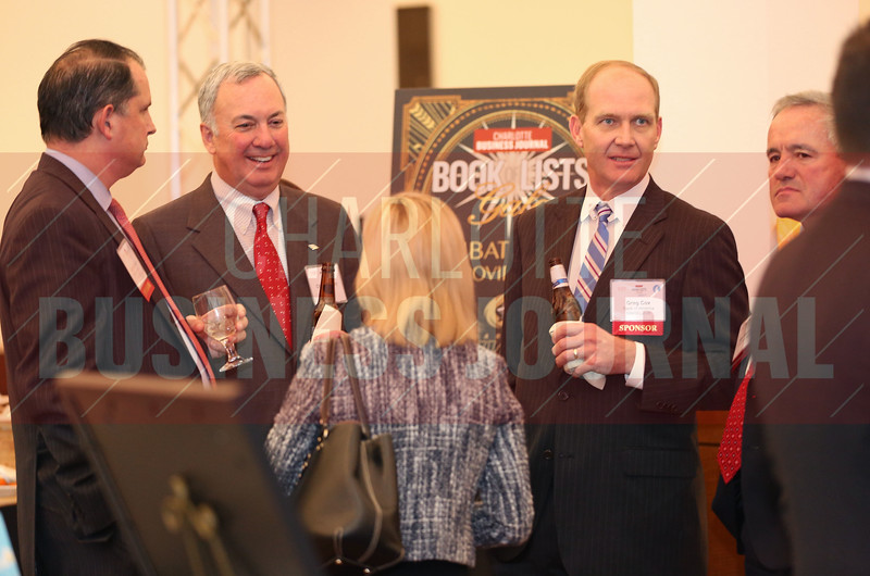 Bank of America coworkers enjoy conversation at the CBJ Book of Lists Gala held at the Foundation For The Carolinas on Jan. 28.