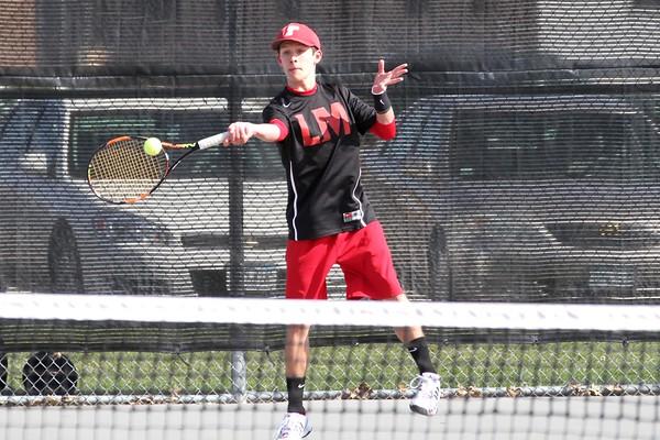 Linn-Mar vs. Cedar Falls Boys' Tennis 4/9/16