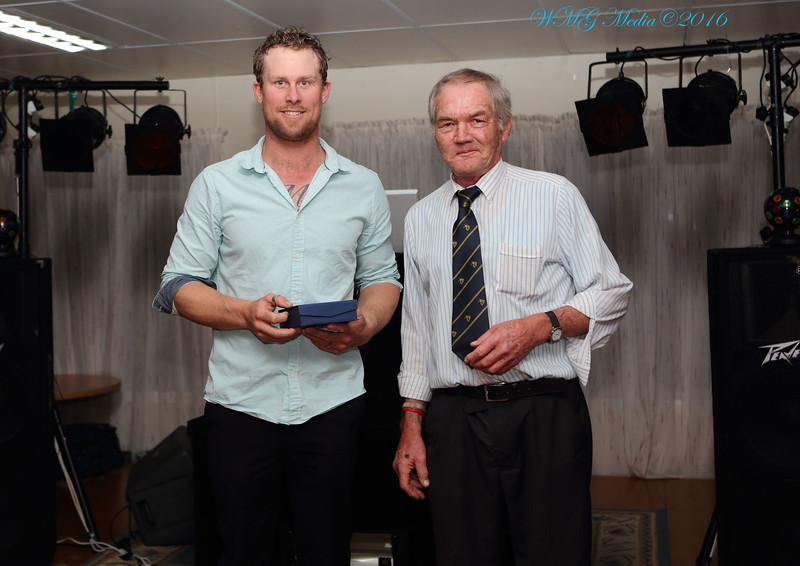 Sports Writer's Award to Beau O'Mara with Richard (RS.Williams.)