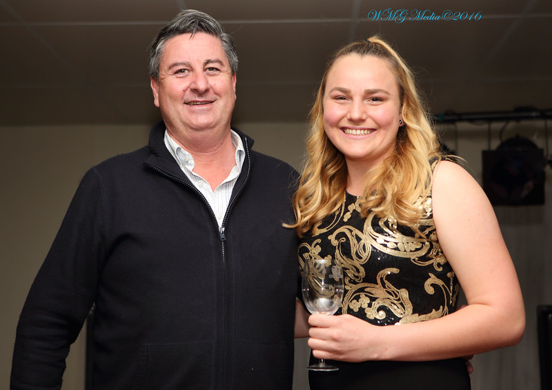 "Stan Waldren and League Tag ""Best & Fairest"" Tara McGrath-West."